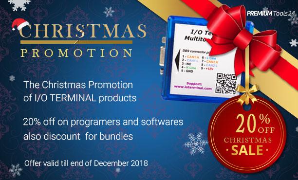 I/O TERMINAL Christmas Sale 2018