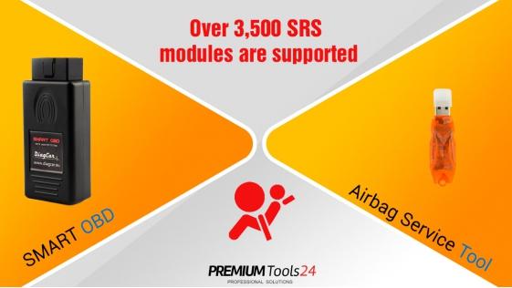 Airbag Service Tool + SmartOBD CAN Tool