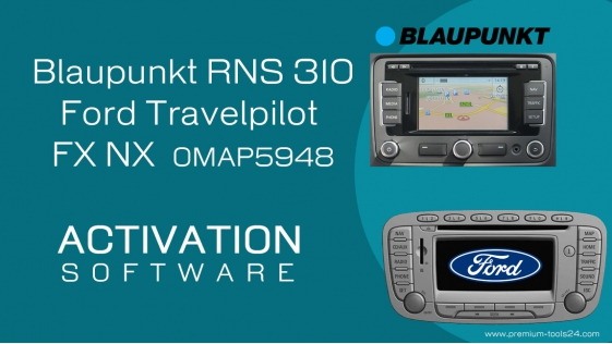 Blaupunkt RNS 310 - Ford Travelpilot OMAP5948 Code Reader - activation for CarProTool