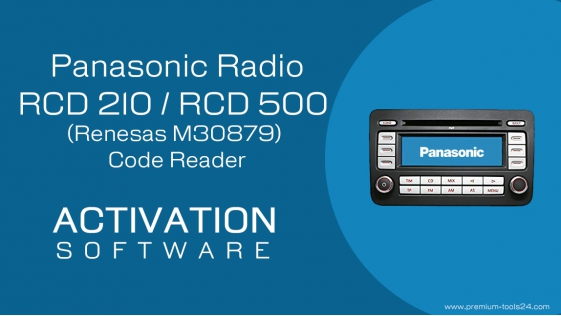 Panasonic RCD 210 / RCD 500 (Renesas M30879) Code Reader - activation for CarProTool.