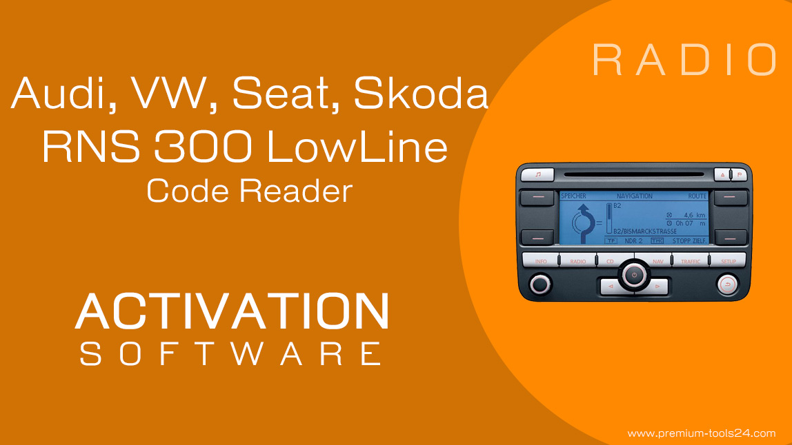 RNS 300 LowLine Code Reader. Activation for CarProTool