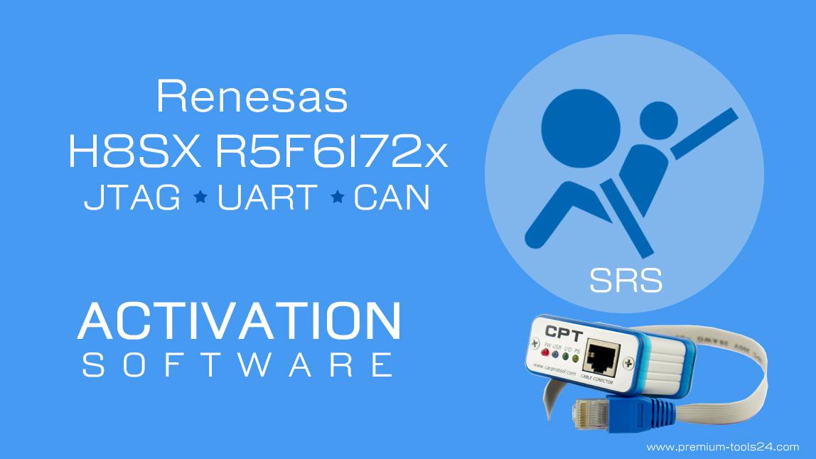 Renesas H8SX R5F6172x JTAG UART CAN - Activation for CarProTool