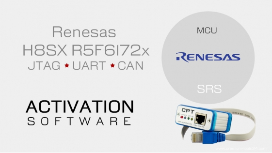 Renesas H8SX R5F6172x JTAG UART CAN - Activation for CarProTool