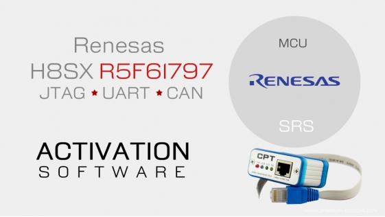Renesas H8SX R5F61797 JTAG UART CAN - Activation for CarProTool