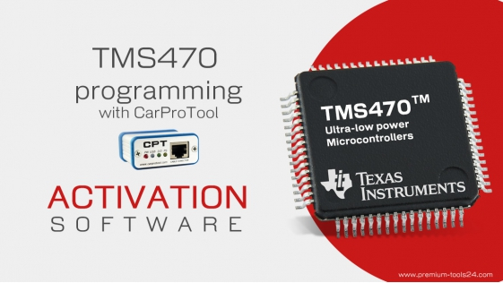 TMS470 Programmer - Activation for CarProTool