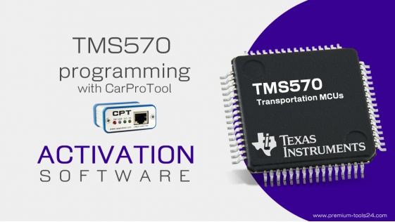 TMS570 JTAG Programmer - Activation for CarProTool