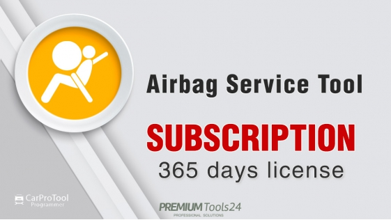 Airbag Service Tool - Subscription for 1 year