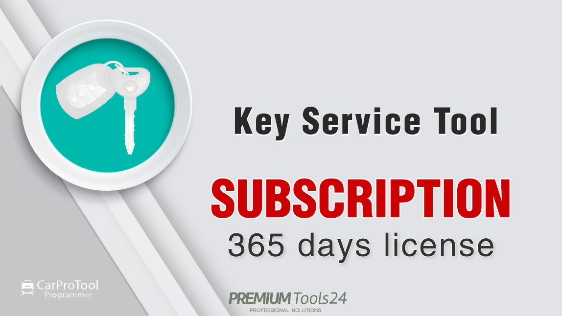 Key Service Tool - 1 year subscription