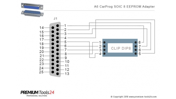 A6 – CarProg SOIC8 Clip for EEPROM Programmer