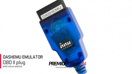 DASHEMU - PLUG OBD2 with micro switch (Codecard)
