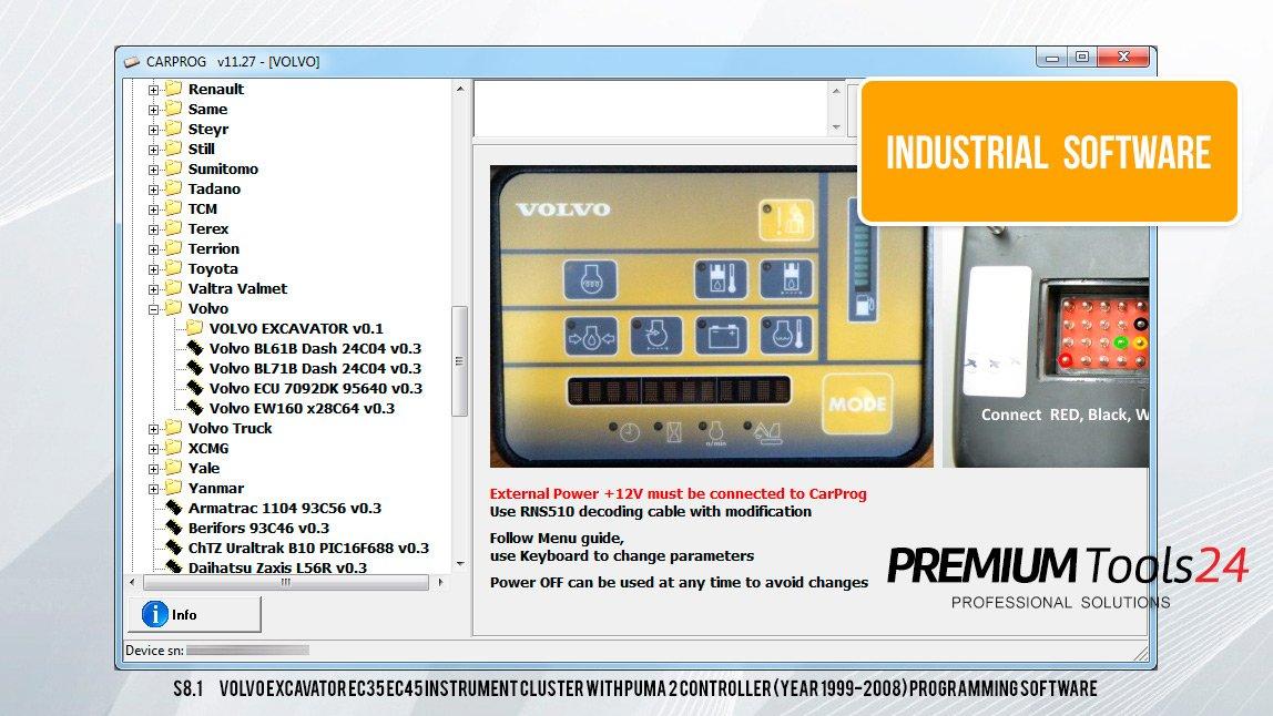 CarProg Industrial Software Pack