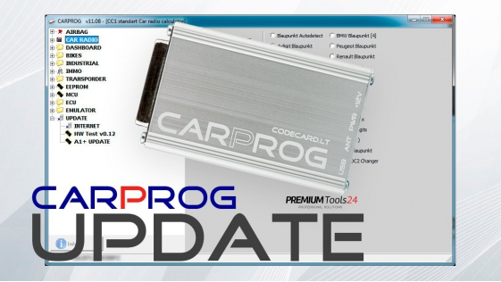 Software update to CarProg FULL version