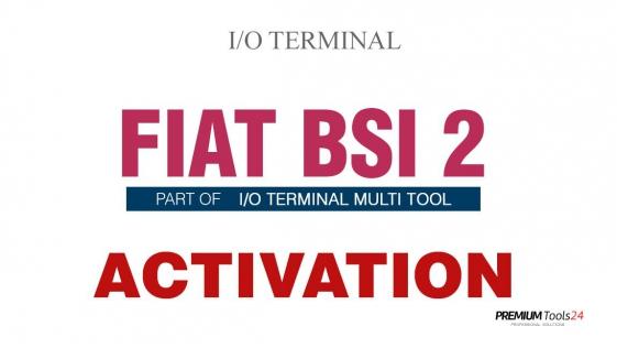 SOFTWARE MULTI TOOL - FIAT BSI 2 FOR I/O TERMINAL