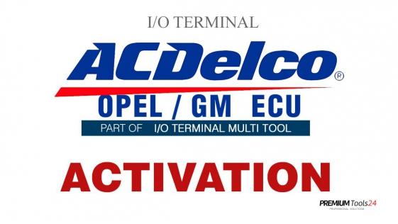 SOFTWARE MULTI TOOL - OPEL/GM ACDELCO ECU FOR I/O TERMINAL
