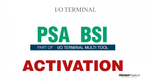SOFTWARE MULTI TOOL  - PSA BSI FOR I/O TERMINAL