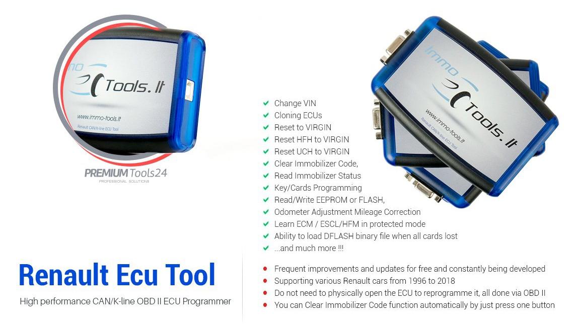 Renault CAN/K-line ECU Tool - Distrybutor
