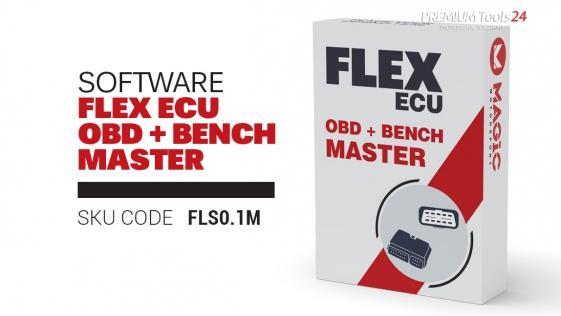 Software Flex ECU (cars, vans, bikes) OBD + Bench Master