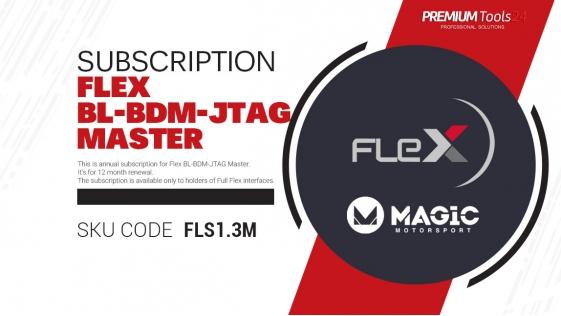Subscription Flex BL - BDM - JTAG Master - 12 month renewal