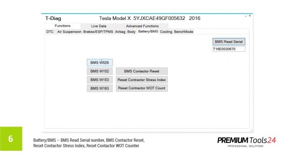 T-Diag - diagnostic interface for Tesla S & X