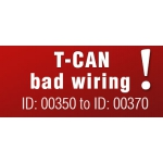 T-CAN - incorrectly swapped wires