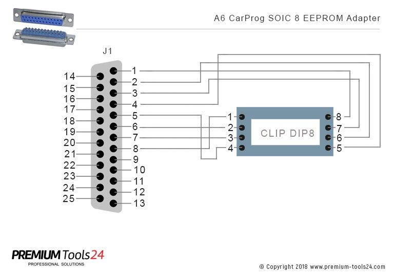CarProg Adapter A6 - Schemat budowy adaptera