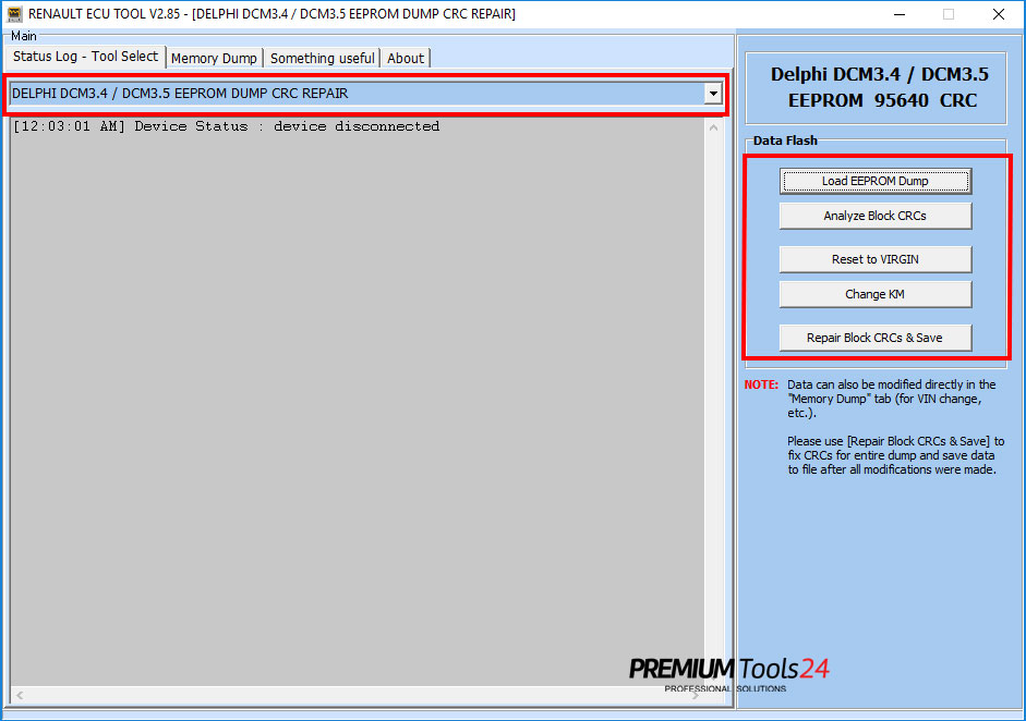 Software Update for Renault ECU Tool
