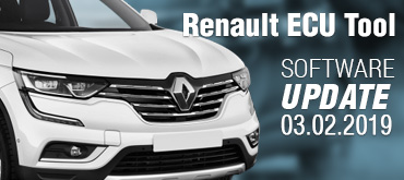 Software Update for Renault ECU Tool - version 2.78d  (03.02.2019)
