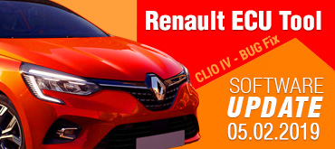 Software Update for Renault ECU Tool - version 2.79 (05.02.2019)
