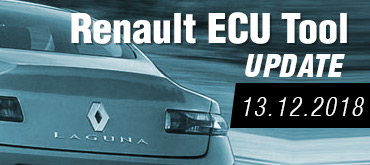 Software Update for Renault ECU Tool - version 2.77 (13.12.2018)