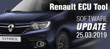 Software Update for Renault ECU Tool - version 2.83 (25.03.2019)