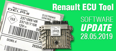 Software Update for Renault ECU Tool - version 2.87 (28.05.2019)