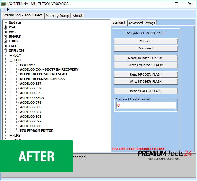 opel/gm acdelco ecu for i/o terminal