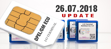 New Software OPEL/GM ECU for I/O TERMINAL has been released