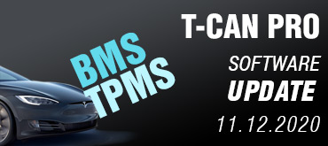 T-CAN PRO - SOFTWARE UPDATE 11.12.2020
