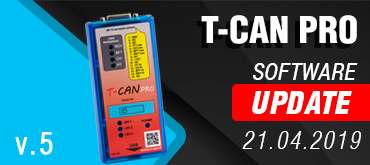 T-CAN PRO - Software Update 21.04.2019